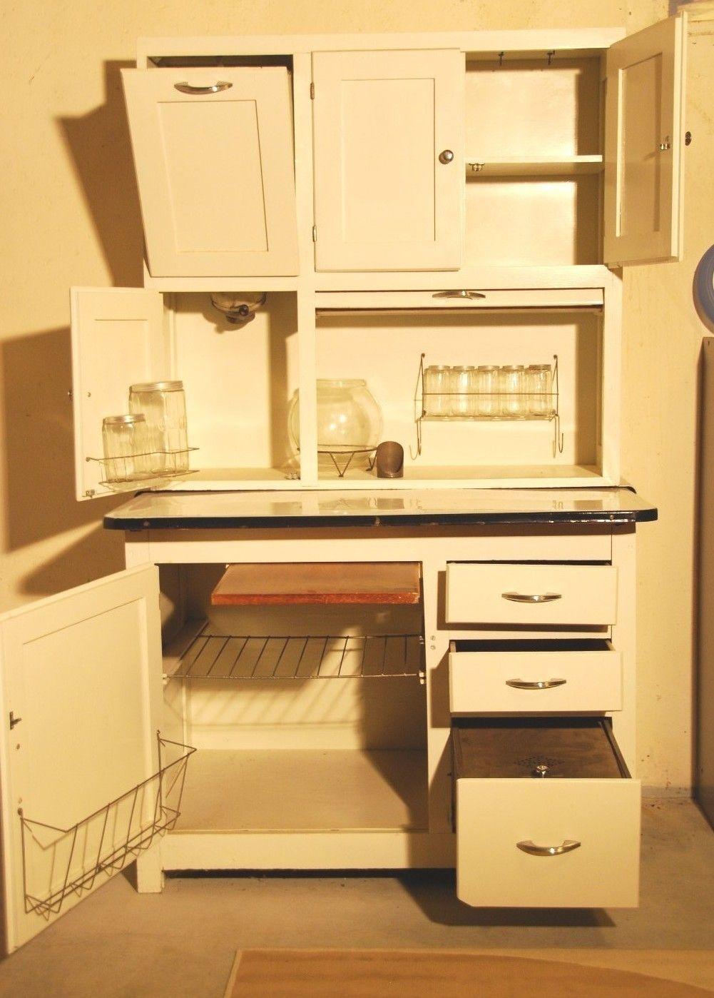 Sellers Kitchen Cabinet Oak Hoosier Style Mcdougall Cabinet W Flour Bin Jars
