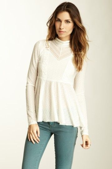 Free People Spider Floral Mesh Top by Casual Spring Style on @HauteLook