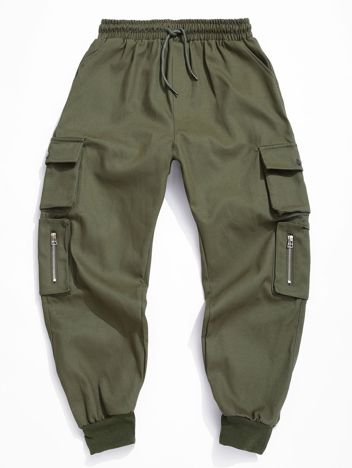 Shorts Solid color Men/'s Trousers Cropped Cargo Army Drawstring Pockets Casual