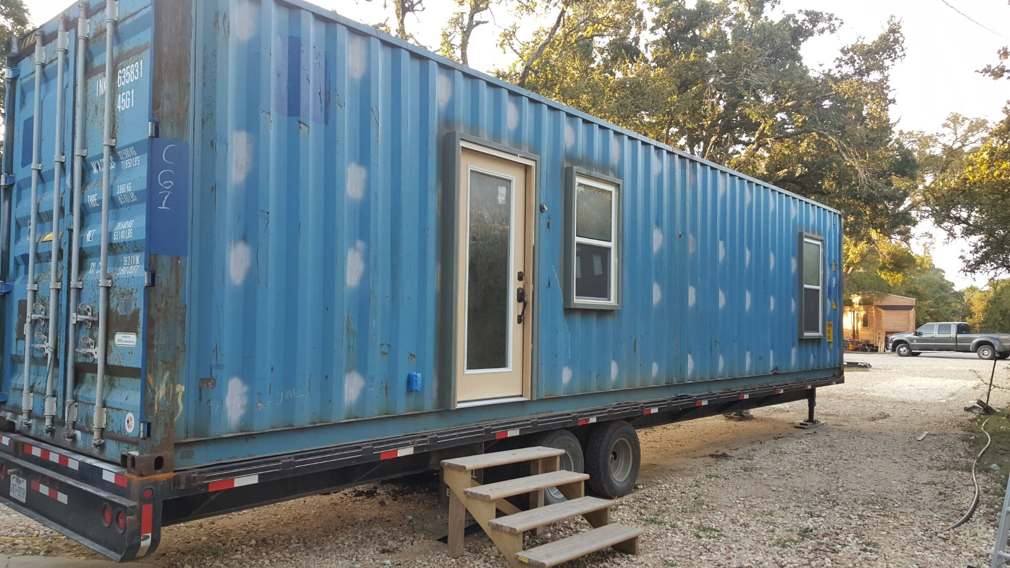 We Built A Tiny House Out Of A 40ft Shipping Container Welded On To A Trailer This Was Tiny House Shipping Container Shipping Container Container House Plans