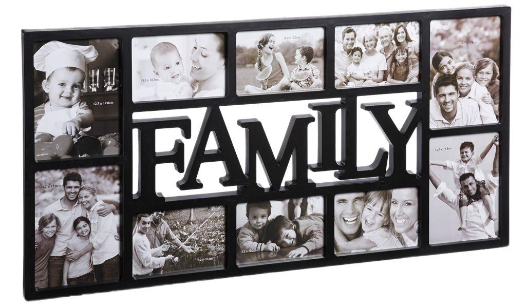kunststoff bilderrahmen family schwarz f r mein zimmer. Black Bedroom Furniture Sets. Home Design Ideas