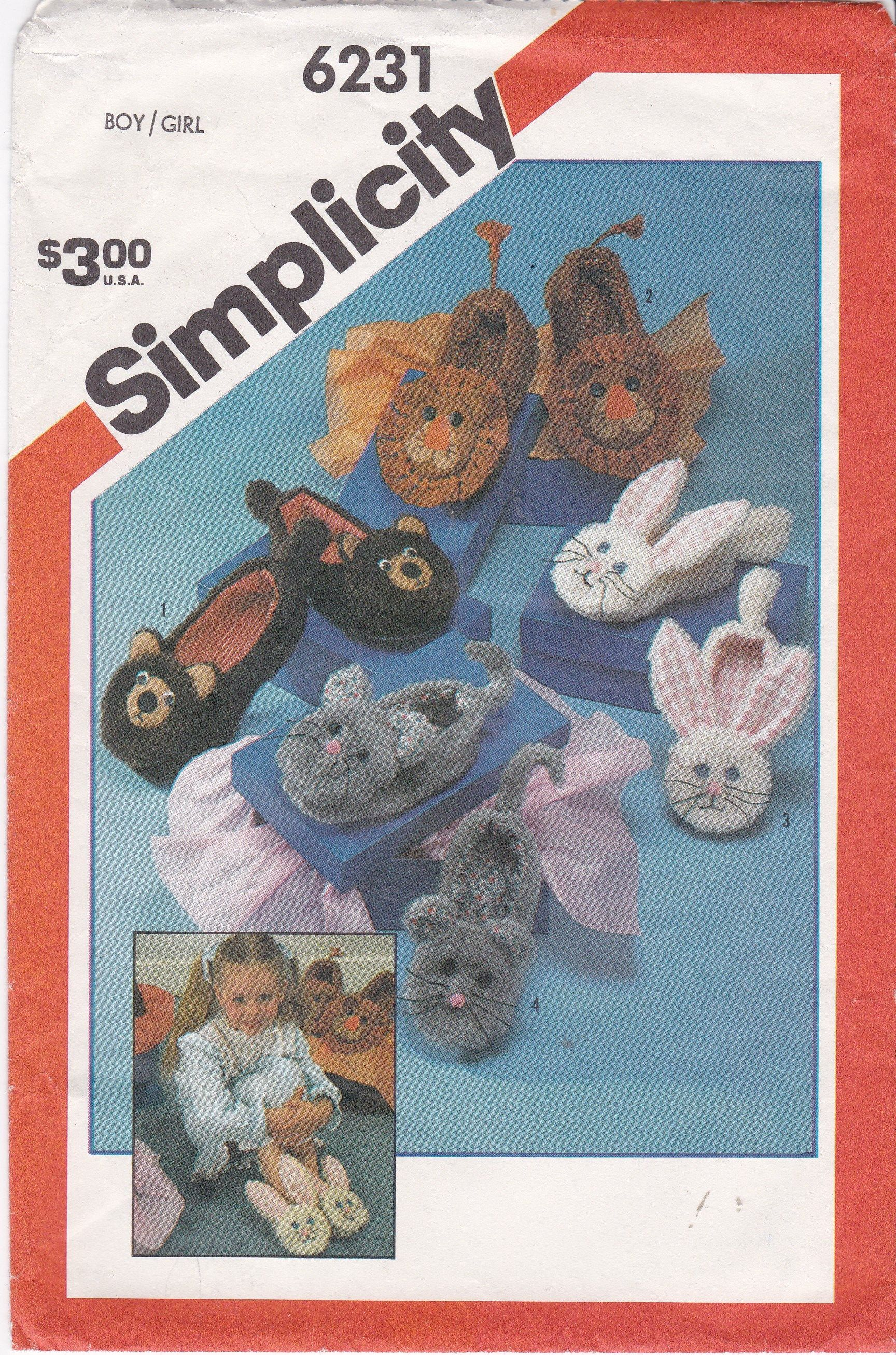 Child S Slippers Patterns Sizes Small Medium Large Cute