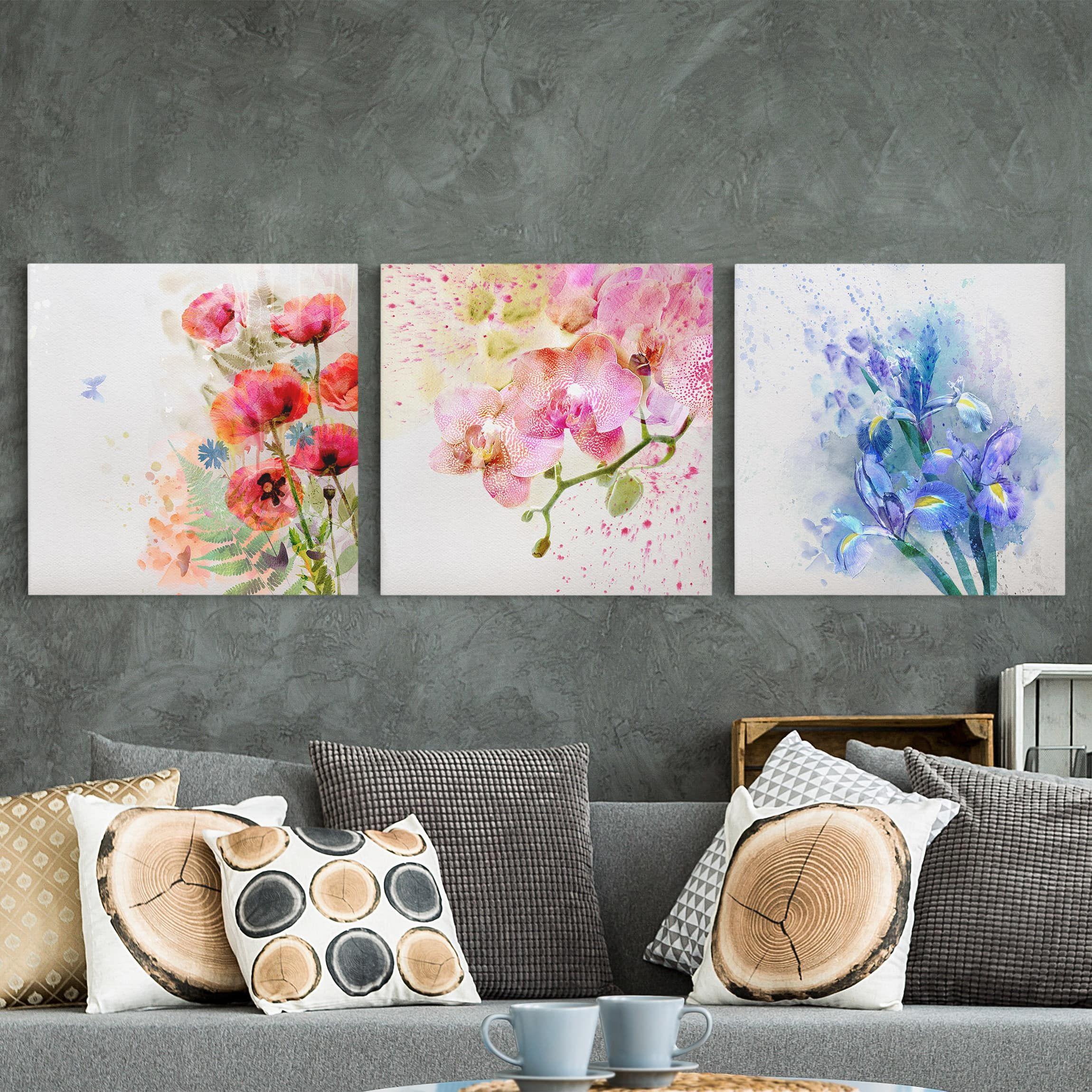 Come decorare la parete del soggiorno con quadretti con