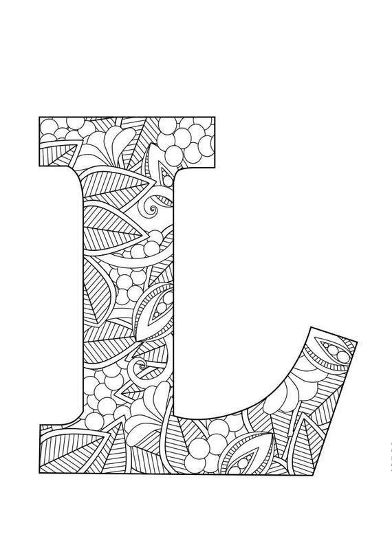 Letter L Floral Mandala Zum Ausdrucken Basteln Fruhling Kinder Gemalte Buchstaben