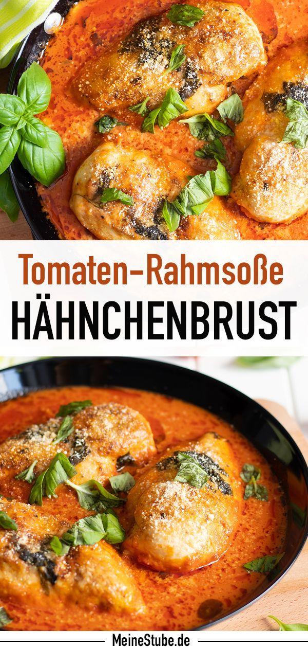 Photo of Hähnchenbrust in Tomatenrahmsauce mit Basilikum – Meine Stube