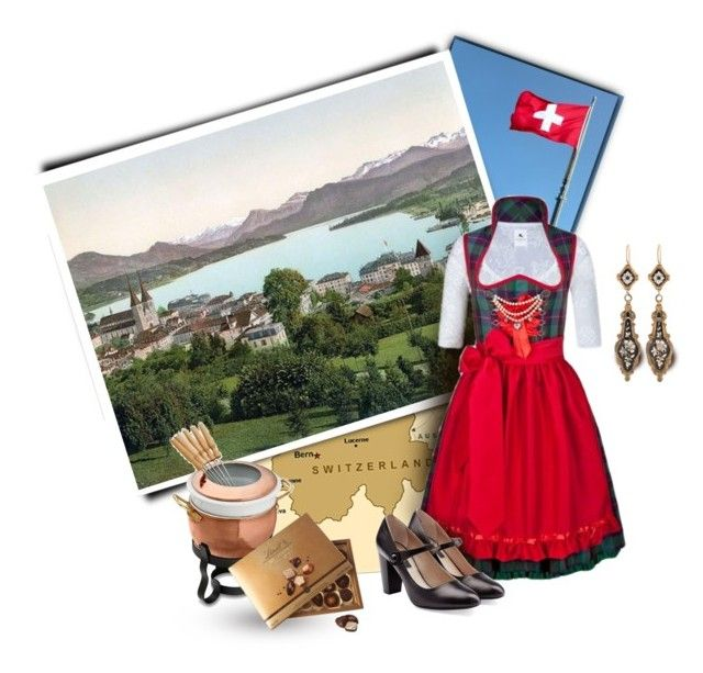 """Lucerne, Switzerland"" by luvchildski ❤ liked on Polyvore featuring Lake, Marc Jacobs, Ruffoni and Lindt"