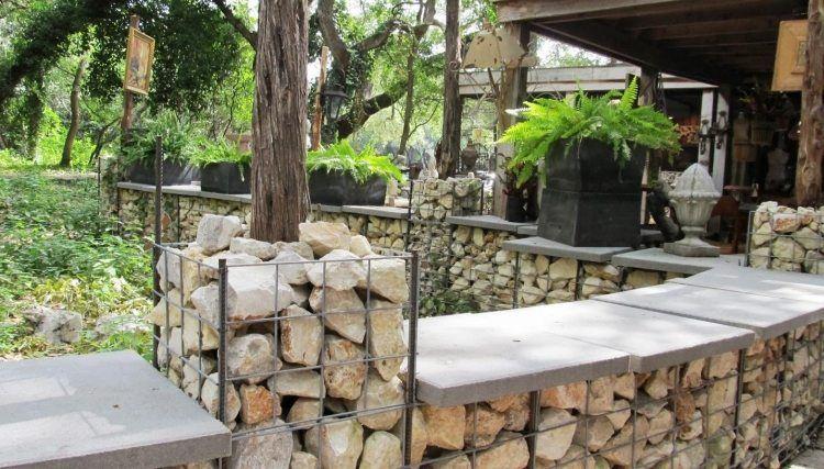 Mur en gabion et applications du gabionnage dans le jardin for Mur exterieur jardin
