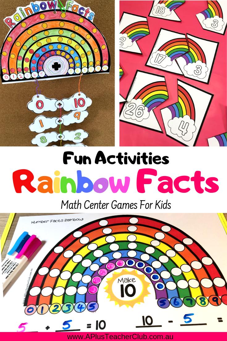 Rainbow Facts Printables Free Poster Rainbow Facts Math Center Games Fun Math Activities [ 1102 x 735 Pixel ]