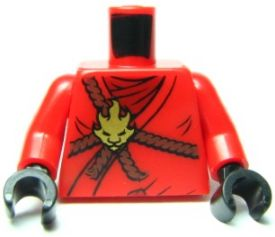 Lego New Torso Armor with Dark Star on Chest and Red White Reddish Brown Hands