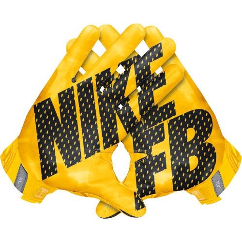 Nike Vapor Jet 3.0 Men's Receiver Gloves - University Gold/Black
