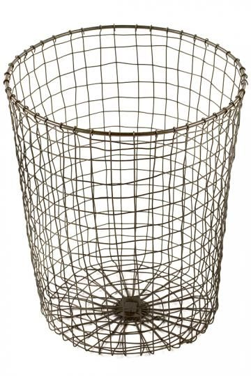 Woven Wire Wastecan Trash Can Decorative Cans Office Recycle Bin Homedecorators