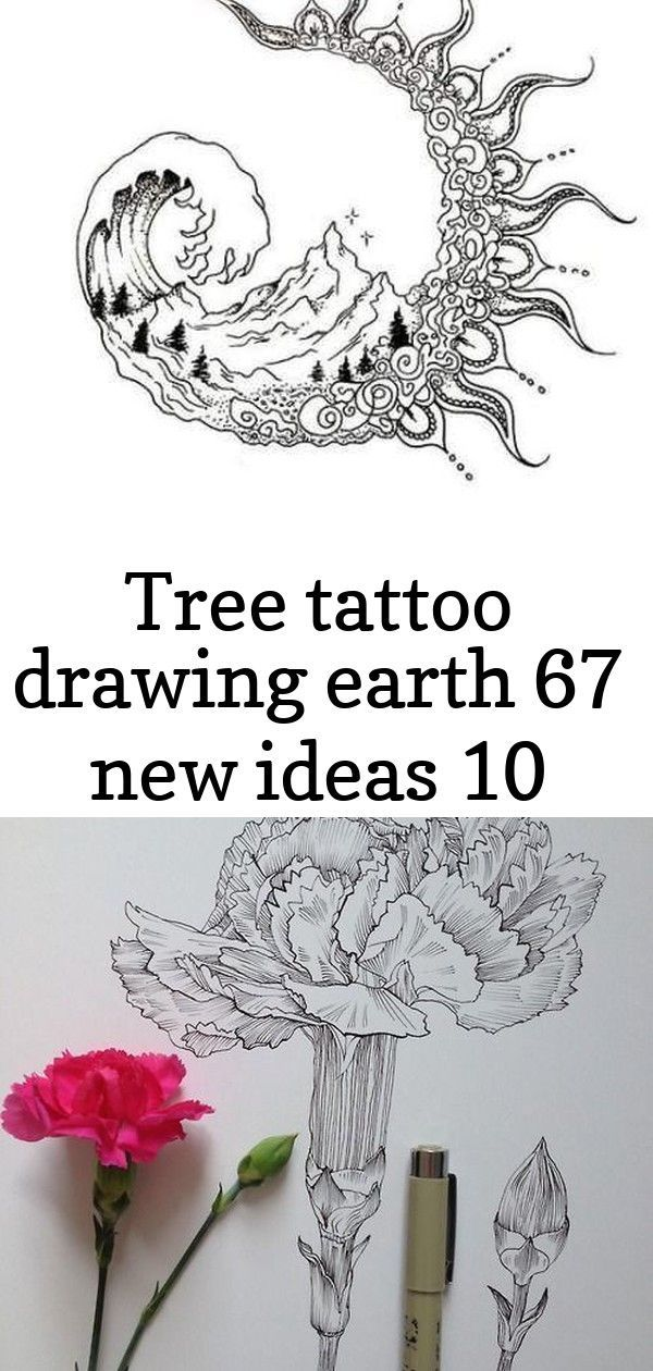 Tree tattoo drawing earth 67 new Ideas 45 Creative Tattoo Drawings For Your Inspiration