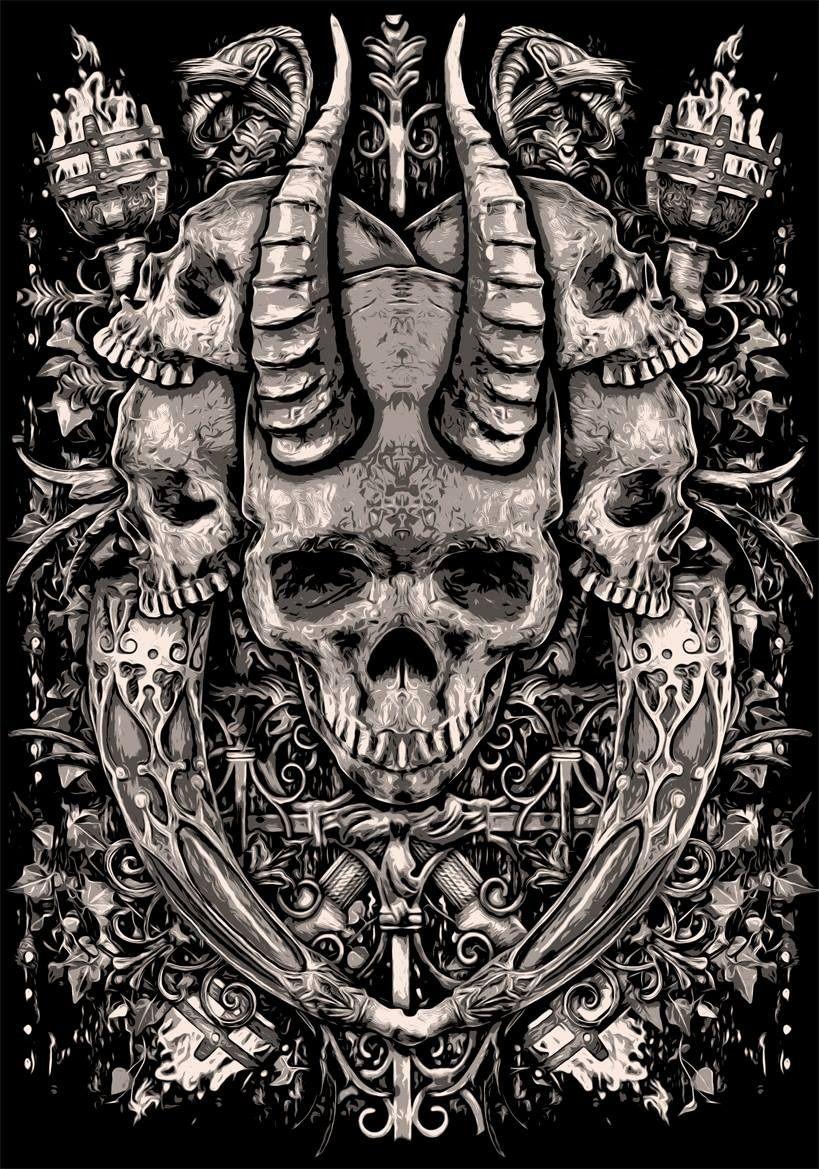 by Bloodboy | Rebel6 | Skull art, Evil art, Satanic art