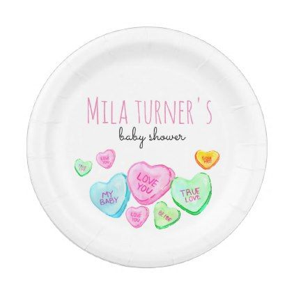 Valentines day candy heart baby shower plate valentines day gifts valentines day candy heart baby shower plate valentines day gifts love couple diy personalize for negle Gallery