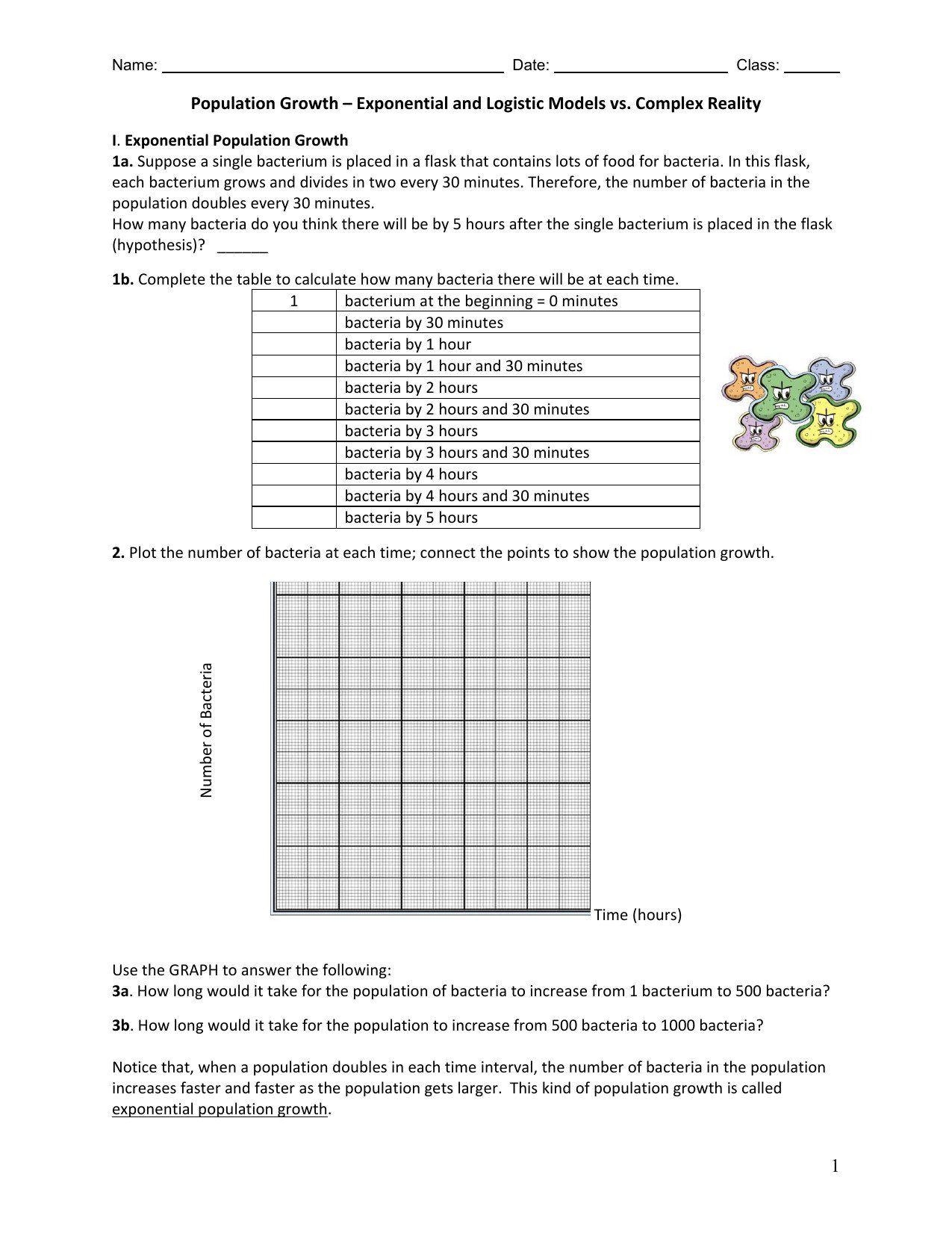 Bill Nye Population Worksheet Population Growth Worksheet