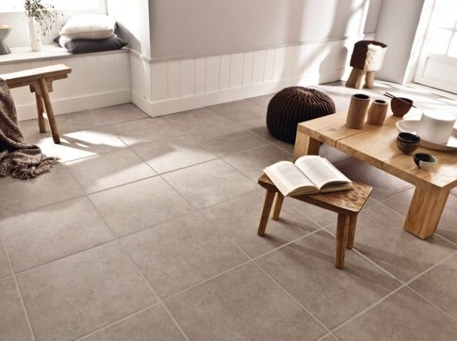 Stunning carrelage gris mur beige ideas Carrelage salon