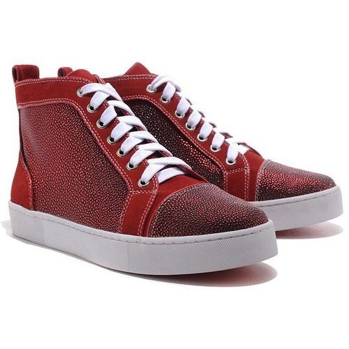 Christian Louboutin Louis Strass High Top Sneakers Red | Christian Louboutin  Men Outlet | Pinterest | High top sneakers