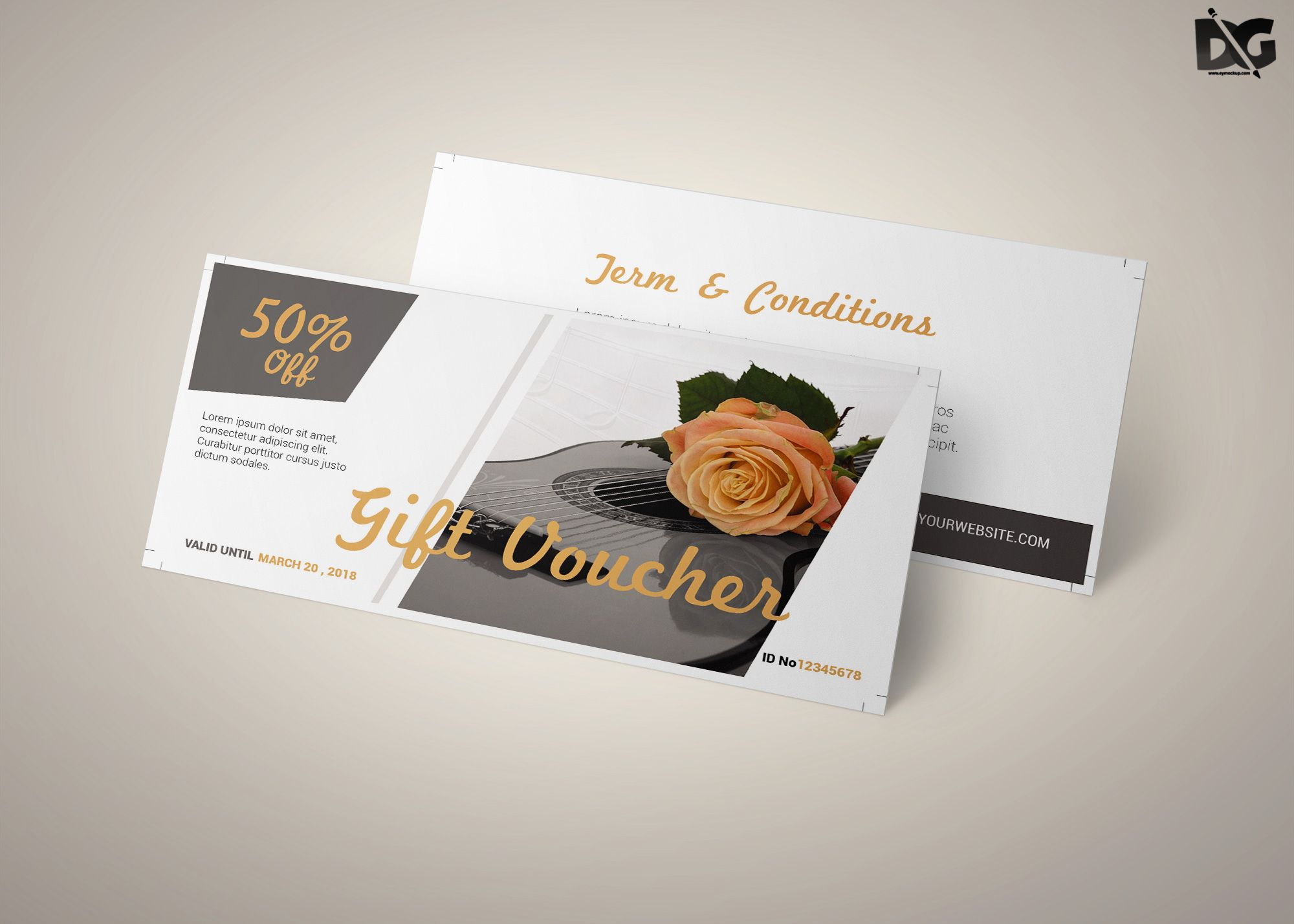 Free Download Flower Shop Voucher Template download