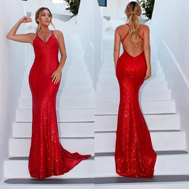 8b73cb35faf Red Goddess backless formal dress by Studio Minc ❤ www.studiominc.com.au