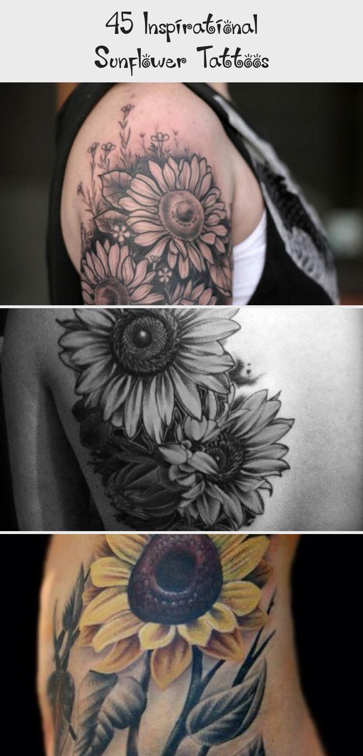 Photo of sunflower tattoo – 45 Inspirational Sunflower Tattoos #sunflowertattoosMen #sunf…