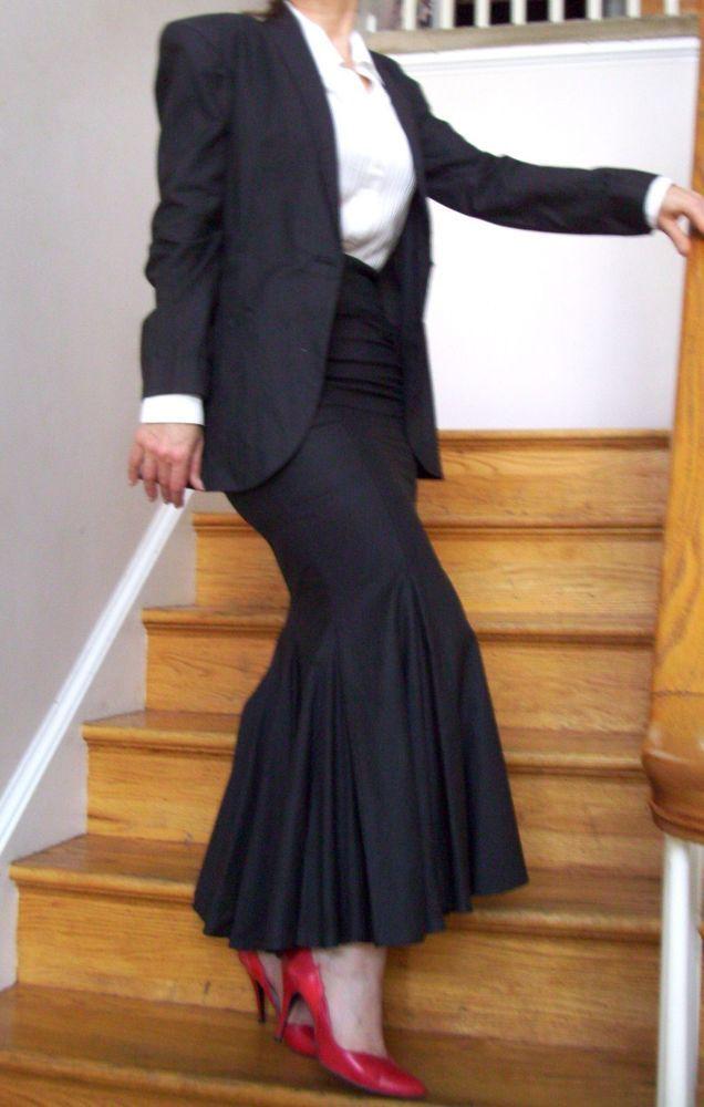 f4f17ca861 Norma Kamali Black Mermaid Skirt Suit -Sexy Couture! 4/6 Kardashian  Cosplay! #NormaKamali #MermaidTrumpet