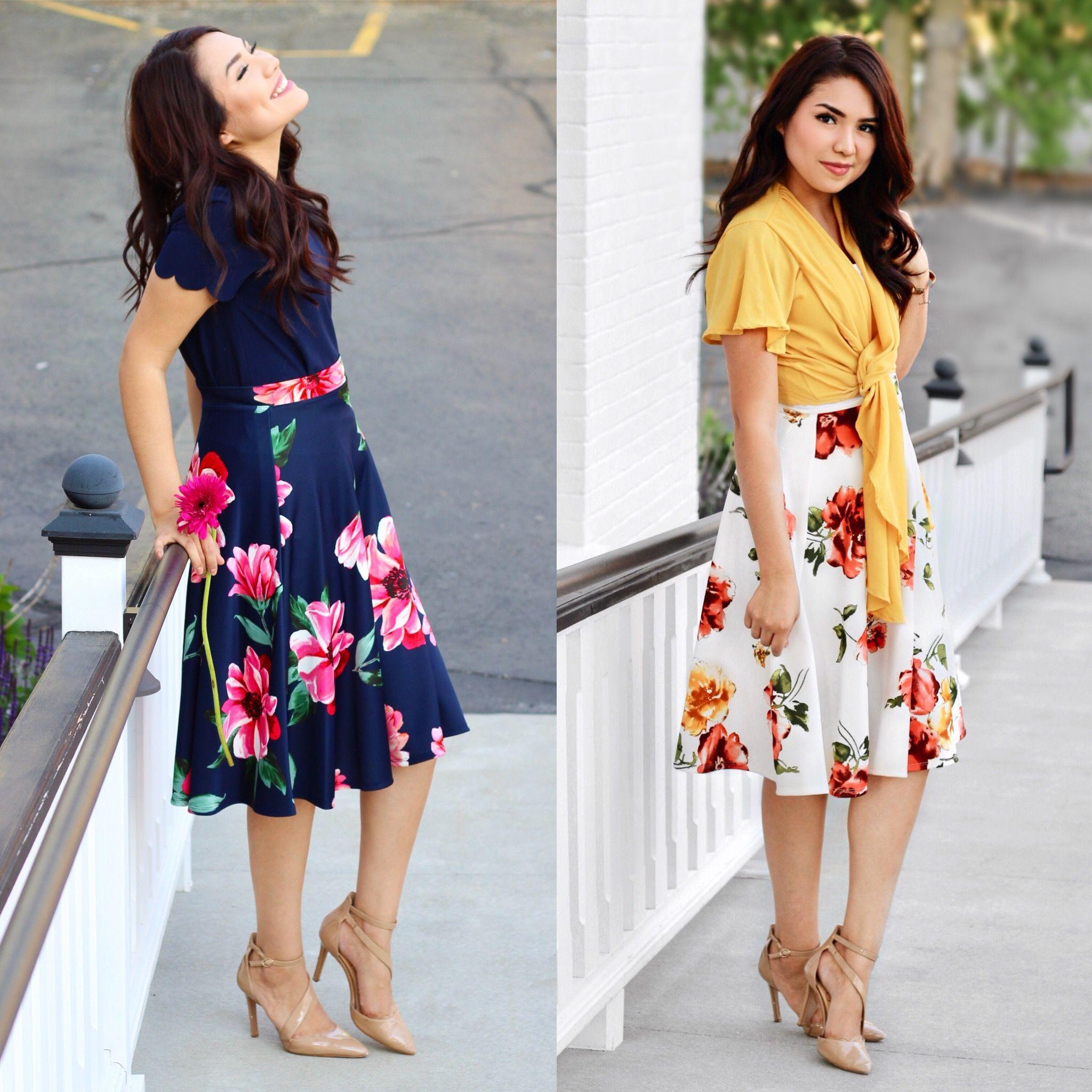 Modest Looks Summer Skirts Summer Look Shopdarlingstyle Fashion Modest Dresses Modest Summer Outfits [ 2048 x 2048 Pixel ]
