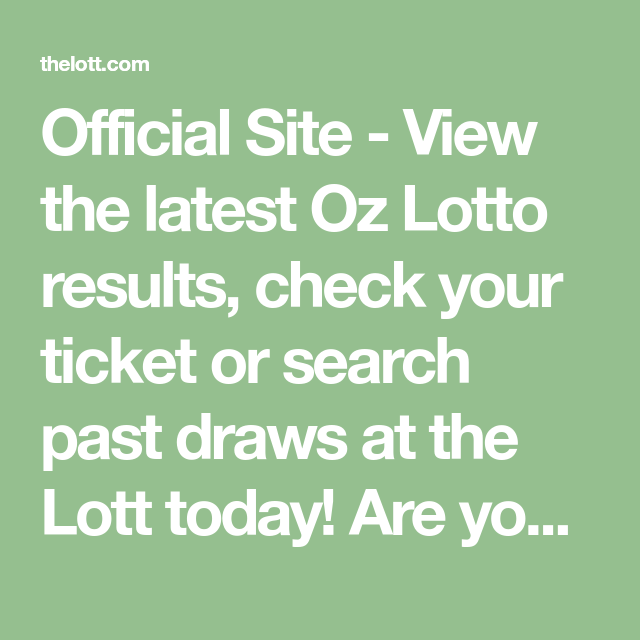 Oz Lotto Official Website