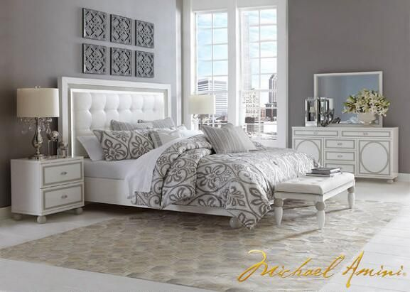 Best Sky Tower 7 Pc King Bedroom By Michael Amini King Bedroom Sets Contemporary Bedroom Sets 400 x 300