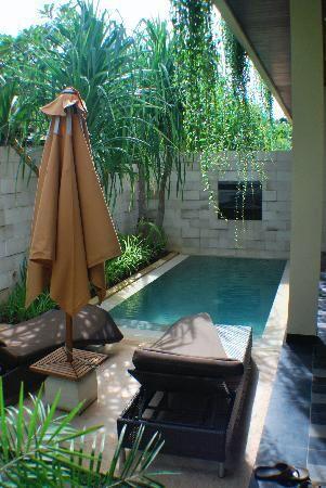 Toute petite piscine pour une ambiance tropicale de rêve dans un