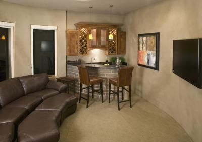 Small Basement Ideas Or Just A Portion Of Basement Just Needs A Microwave Popcorn Popper And Small Refrigerator Bedroom Wall Finishing Basement Home