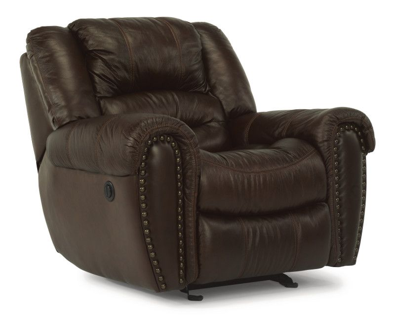 Gordon Leather Power Recliner by Flexsteel at