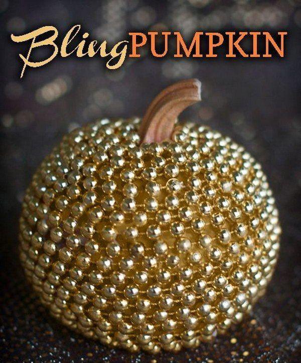 f11faa1a5e63 DIY  Make a cool and stylish metallic Bling Pumpkin in no time using tacky  glue