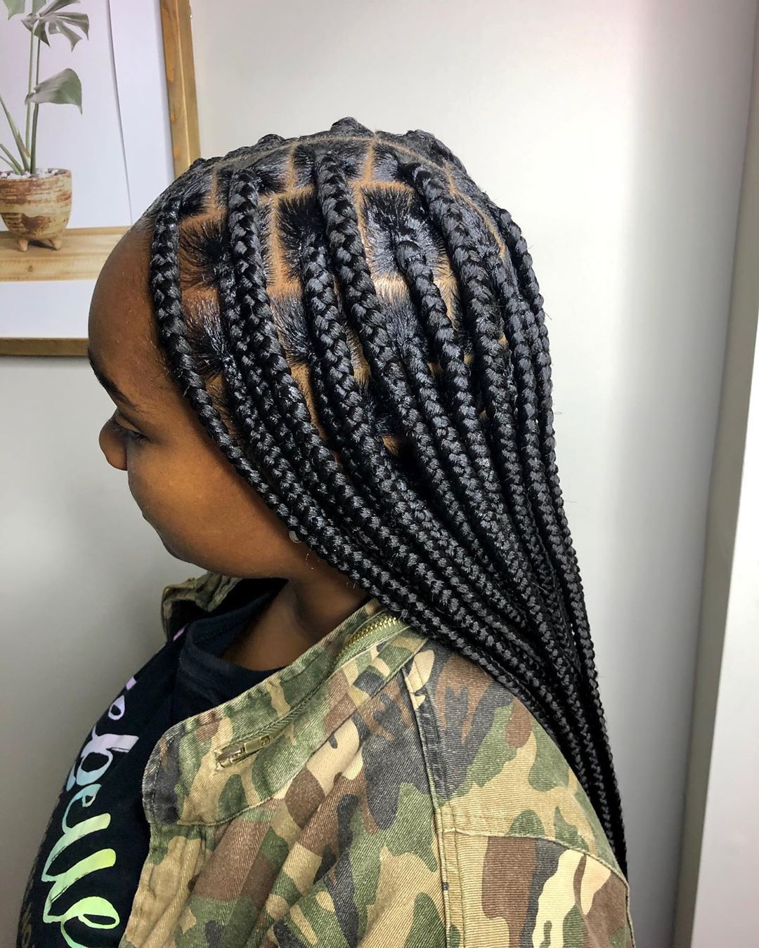 Ordinaryher On Instagram Large Knotless Braids Box Braids Hairstyles For Black Women Braided Hairstyles Hair Styles Knotless braids are stylish, low maintenance, and painless. box braids hairstyles for black women