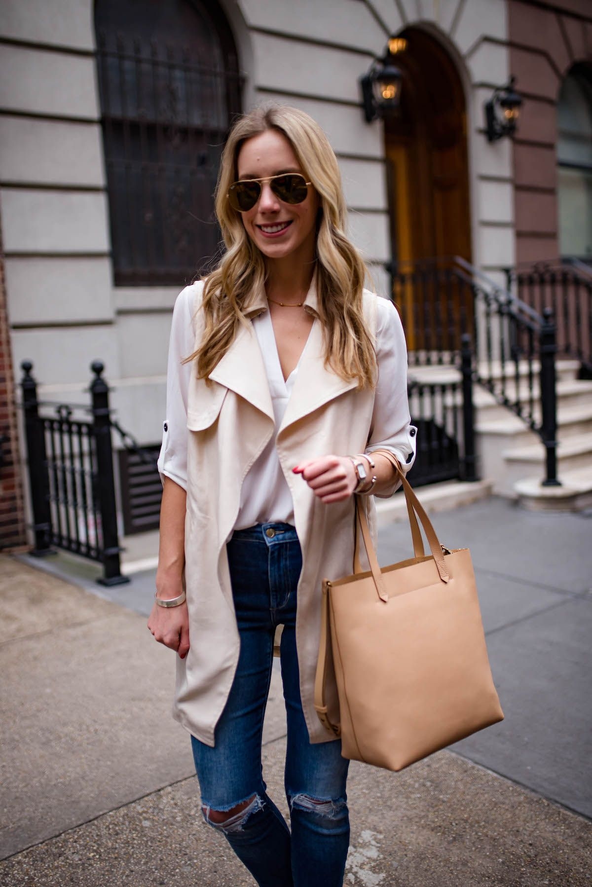 cd7005777 Madewell Medium Leather Transport Tote | Everyday Fashion in 2019 ...