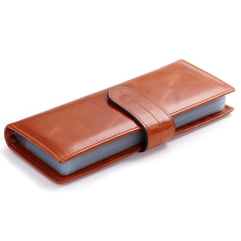409364ef9 Billeteras de cuero auténtico largo para hombres o mujeres carteras online  barata con más soportes para