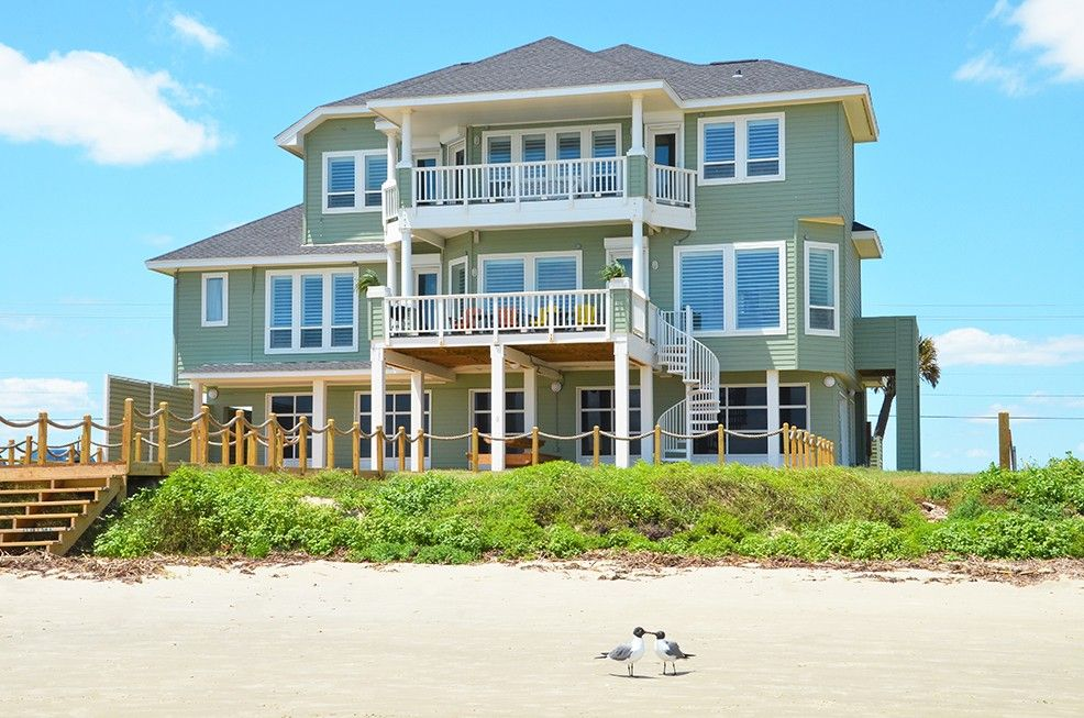 Sands Of Kahala Beach Vacation Al Vrbo 471204 5 Br Galveston House In Tx Front With 8 King Beds