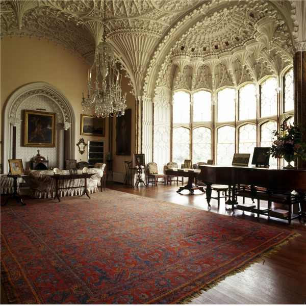 The saloon at Arbury Hall.  Warwickshire- Country