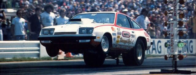 Vintage Drag Racing Pro Stock Grumpy Chevy Monza Drag