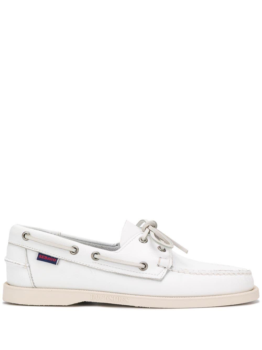 Sebago Boat Shoes In White   ModeSens