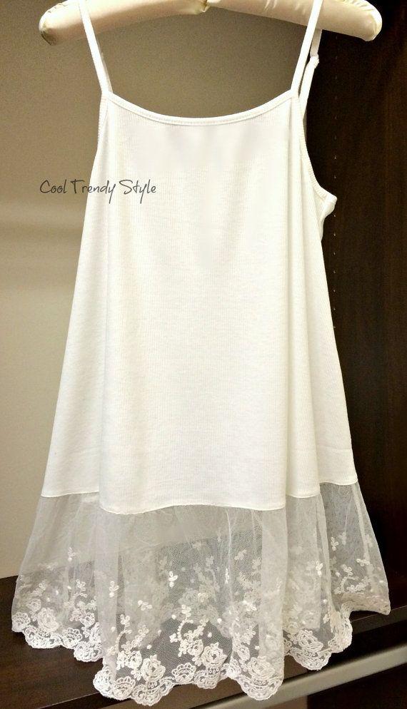 a185234cefd Lace Extender Top CAMI Off White Top Shirt Womens Top Slip Extender ...