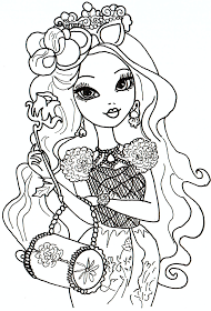 Briar Beauty Ever After High Coloring Sheet With Images