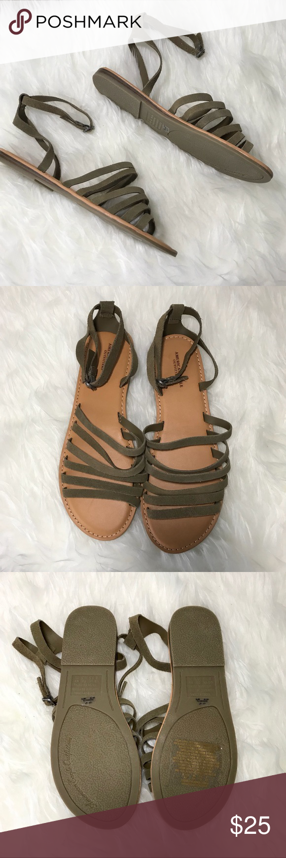 0a8af0849af7 AEO Sandals American Eagle Outfitter Sandals. Brand new never worn. Straps  are olive green. American Eagle Outfitters Shoes Sandals