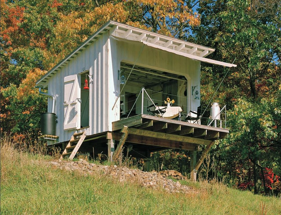 7 clever ideas for a secure remote cabin - Small Cabin Design Ideas