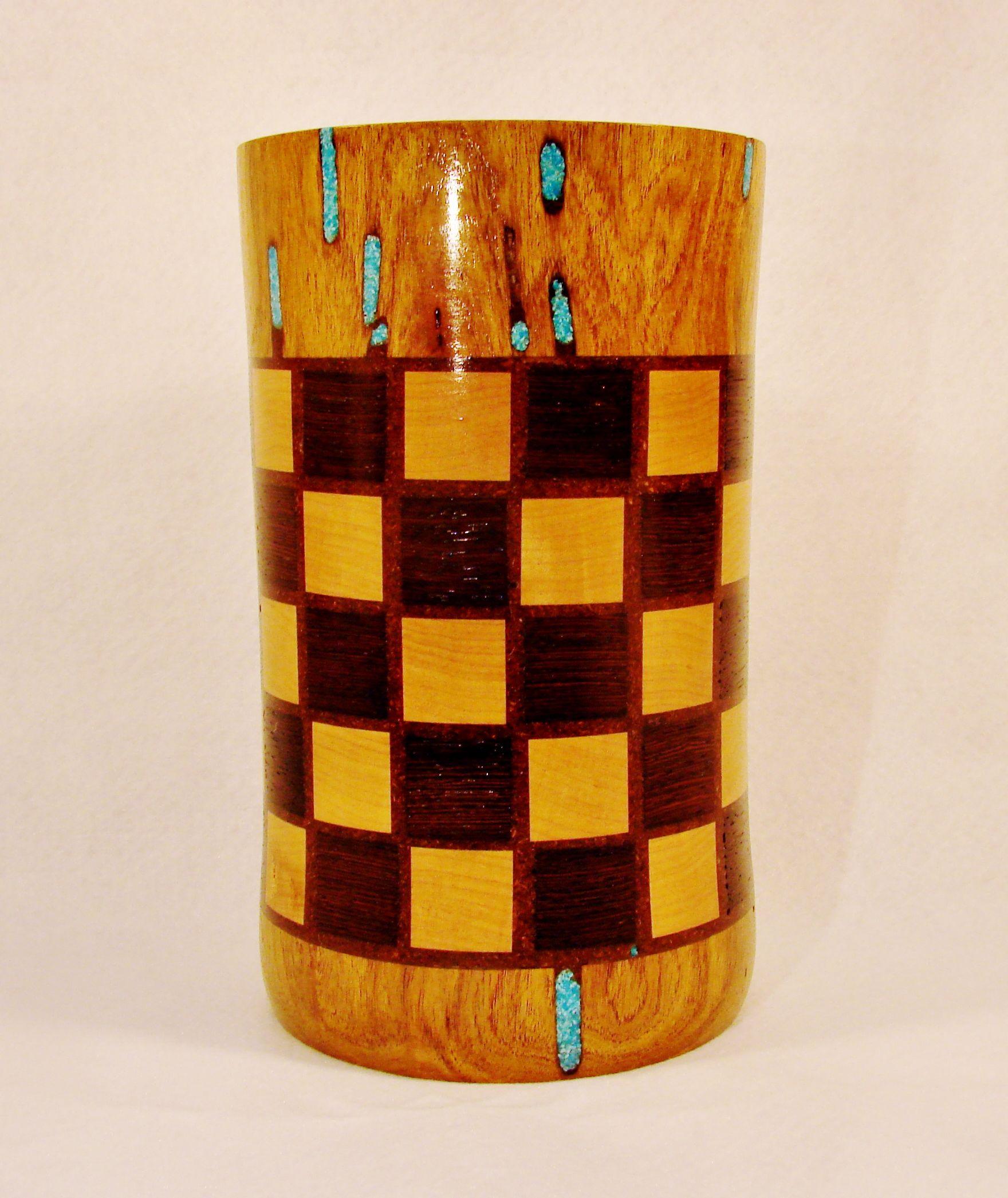 Turned wood vase of mesquite hard maple wenge turquoise and turned wood vase of mesquite hard maple wenge turquoise and epoxy with wood reviewsmspy