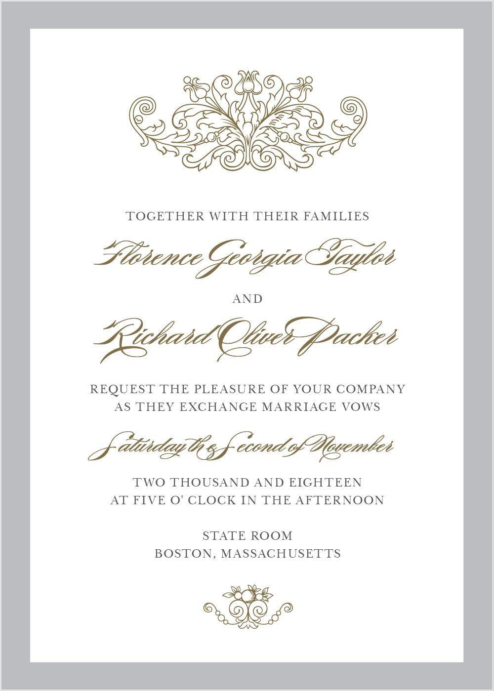 Vintage Damask Wedding Invitations   Damasks