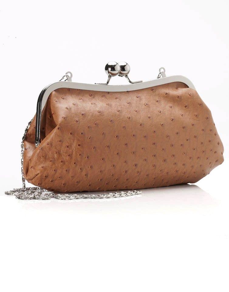 Faux Ostrich clutch bag - Bags