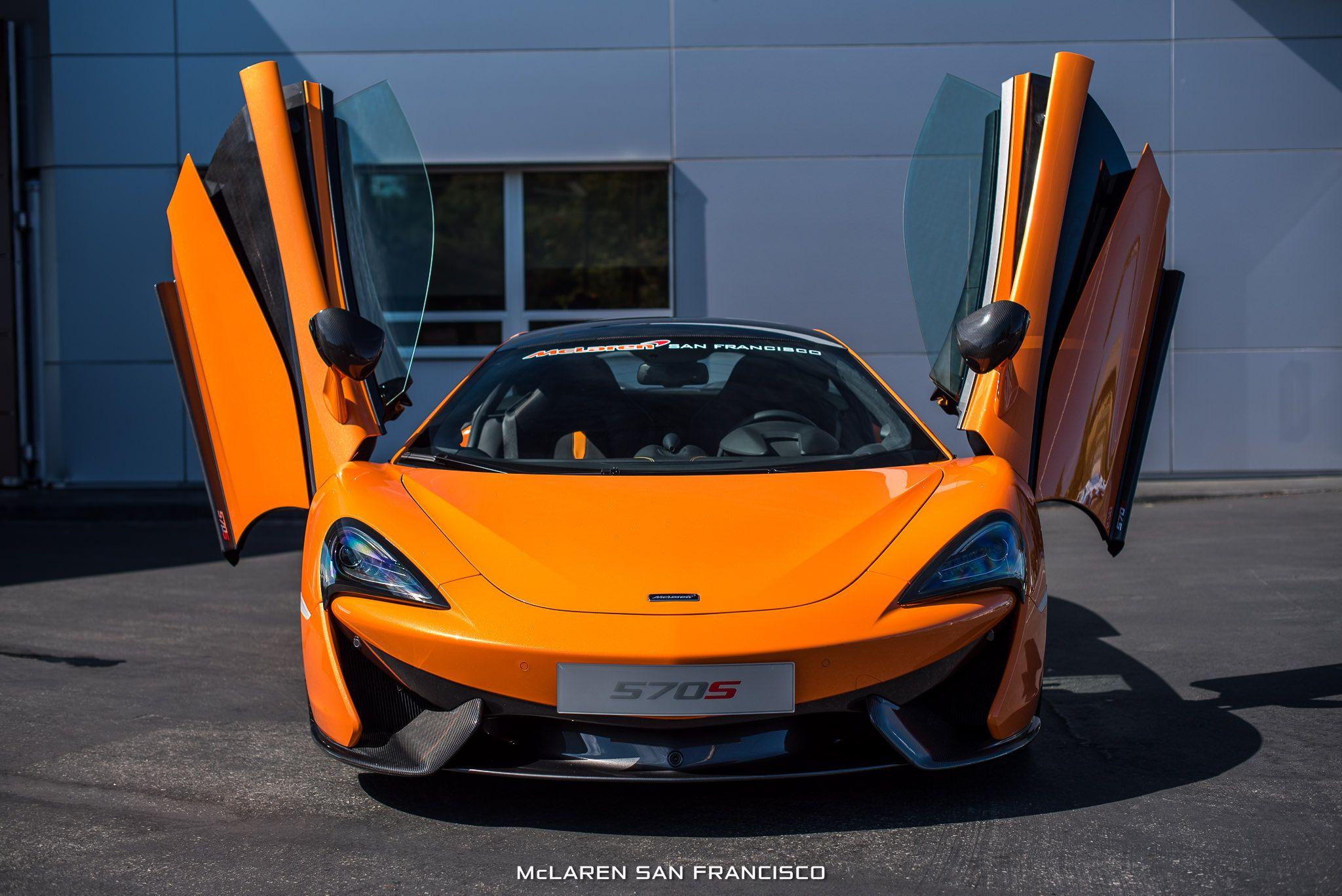 ventura orange mclaren 570s coupé by mso front view doors up - sssupersports.com & ventura orange mclaren 570s coupé by mso front view doors up ...