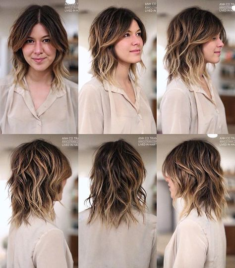 70 S V I B E modern shag anhcotran bangs hair