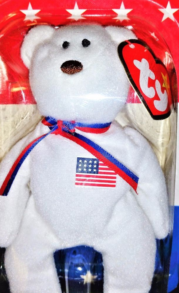 Liberty The Bear - 1996 -Ty Beanie Babies from McDonald s - New In Box  Ty ffd0f4237384