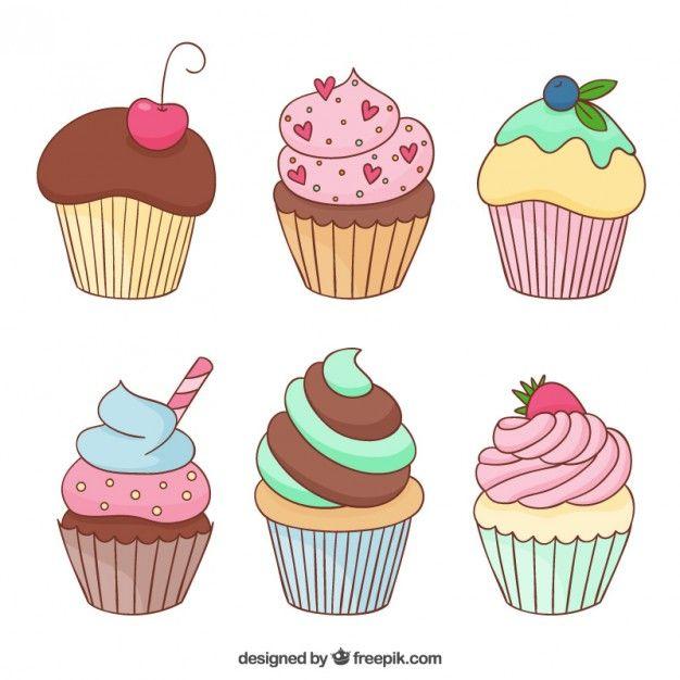 Vkusnye Keksy Besplatnye Vektory Disney Cupcake Illustration